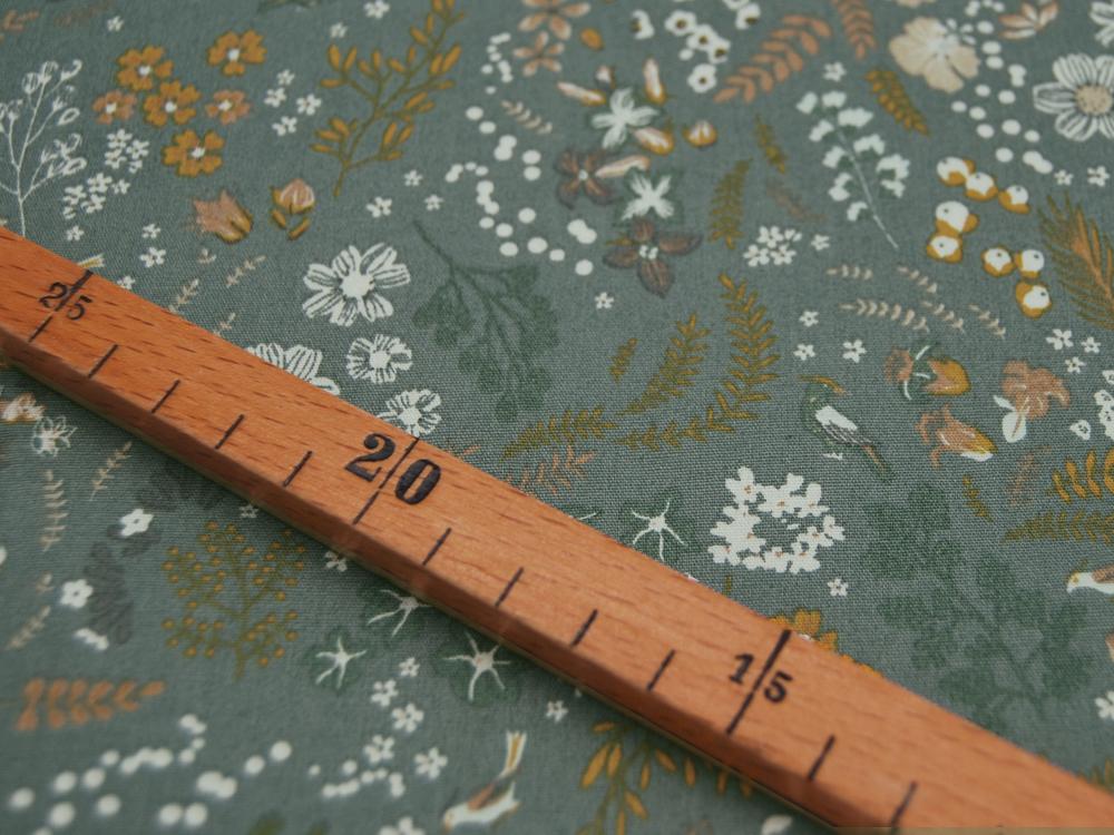 ORGANIC Baumwolle Mix Flowers auf Dusty