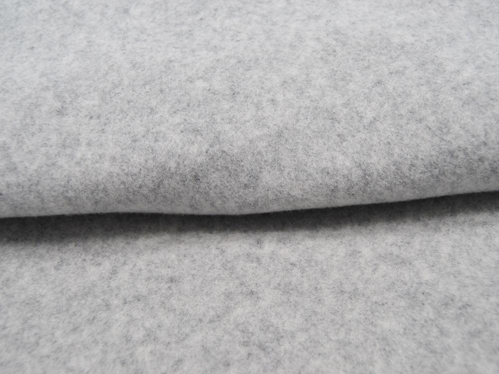Organic Cotton Bio Fleece Hellgrau Meliert