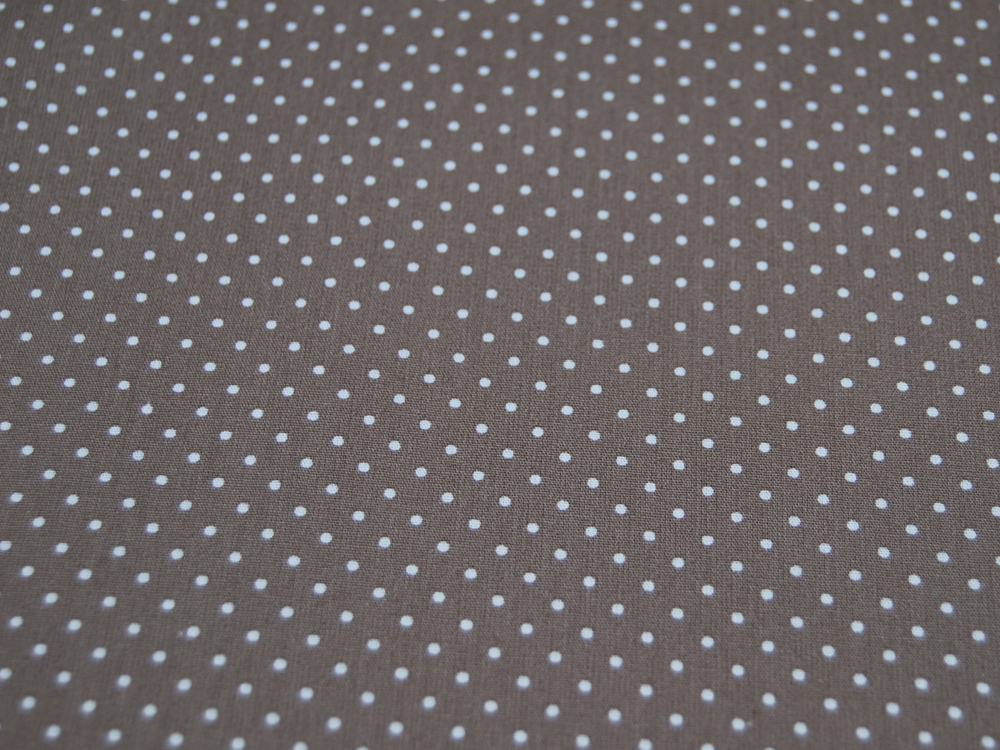 Petit Dots auf Taupe - Baumwolle
