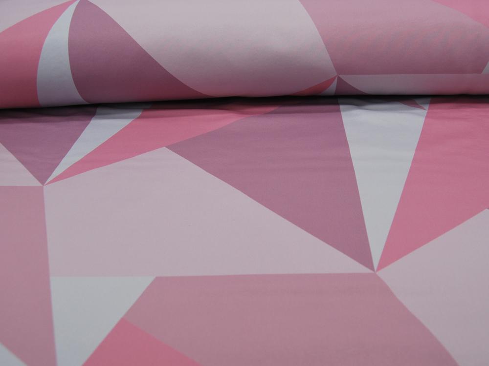 Beschichtete Baumwolle Sterne auf Rosa 50x65