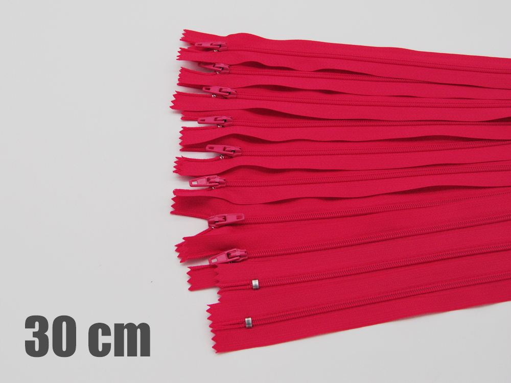 10 x 30cm Lachspinke Reißverschlüsse