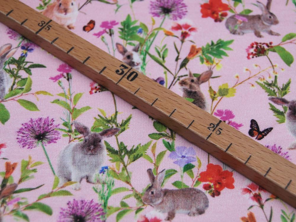 Jersey Digital Hasen auf Rosa Meter
