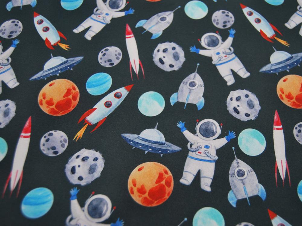 Jersey Dino Dinosaurier auf Grau Melange