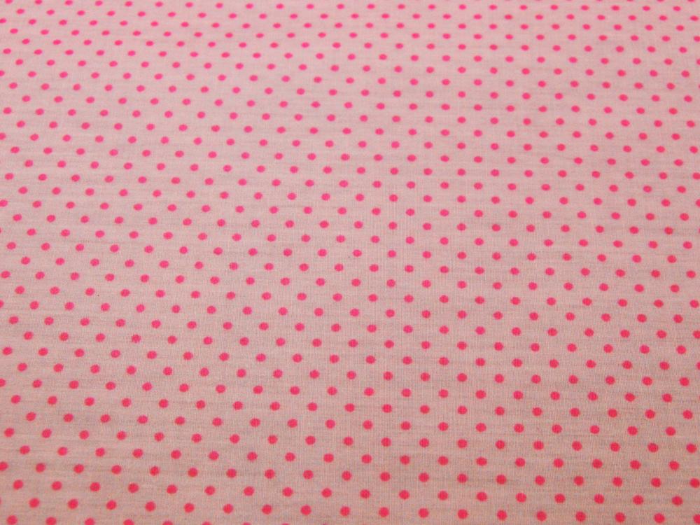 Beschichtete Baumwolle - Pinke Punkte auf Rosa 66x50cm - 1