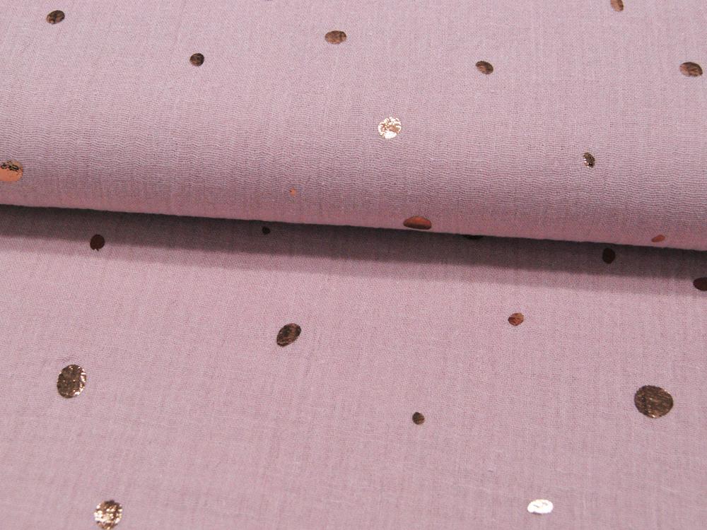 Musselin/Double Gauze Foil Mixed Dots auf