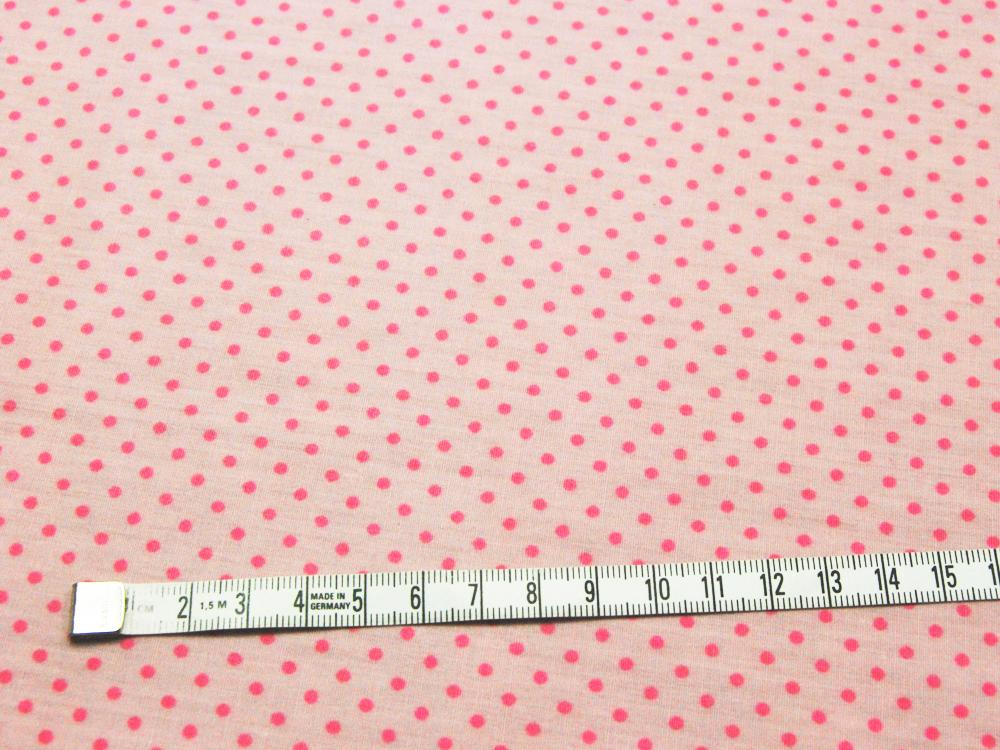 Beschichtete Baumwolle - Pinke Punkte auf Rosa 66x50cm - 2