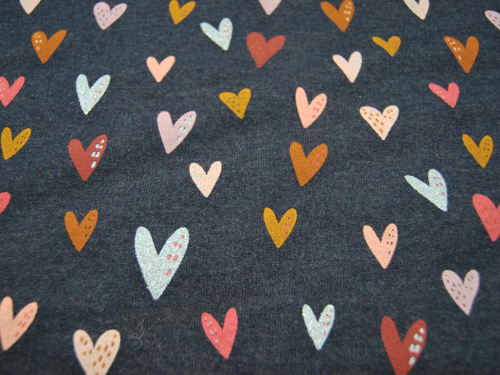 Beschichtete Baumwolle - Blumenmuster in Pink-Grau - 50 x 75 cm - 2
