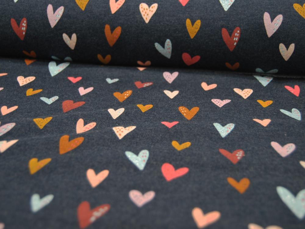 Beschichtete Baumwolle - Blumenmuster in Pink-Grau - 50 x 75 cm - 3