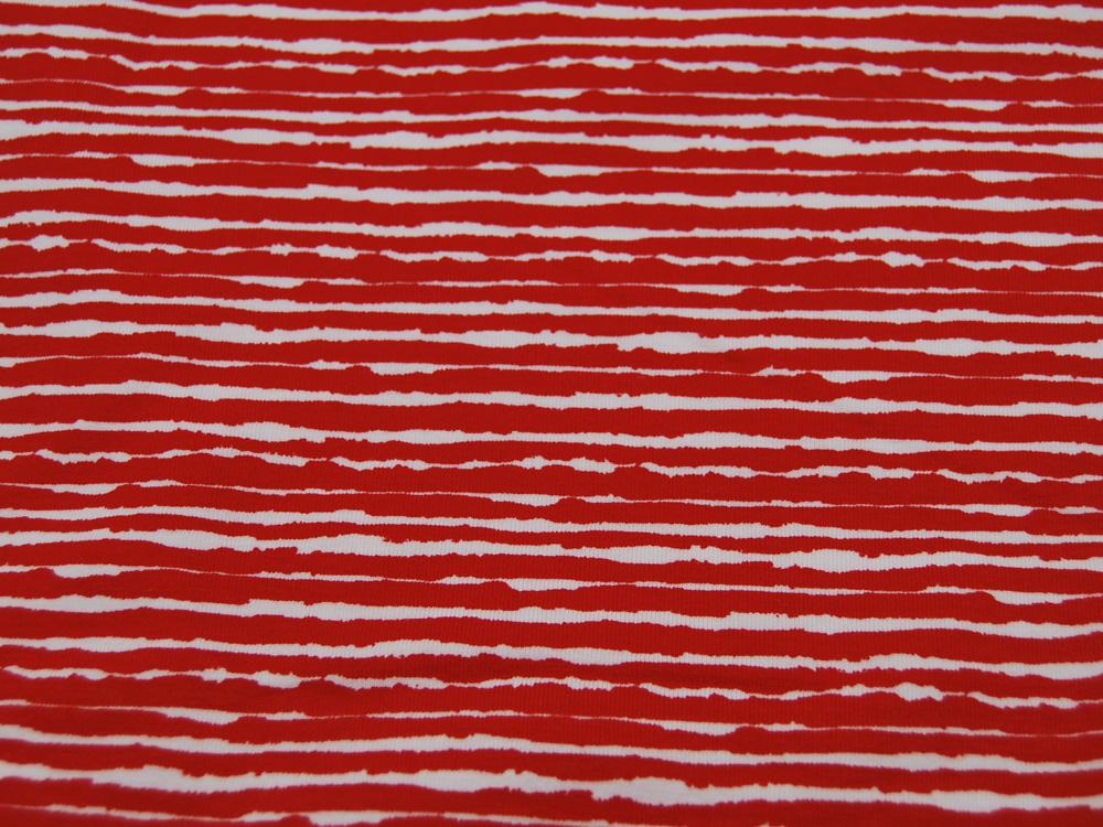 Jersey Wilde Streifen in Rot Weiß