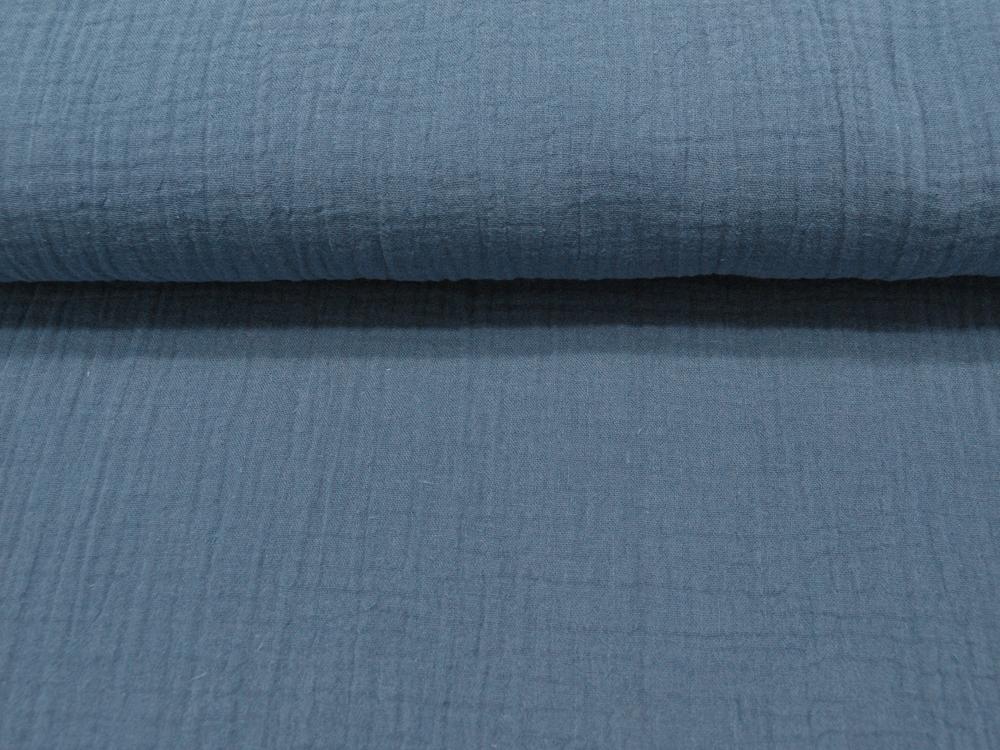 Musselin/Double Gauze - Uni Jeansblau 05m