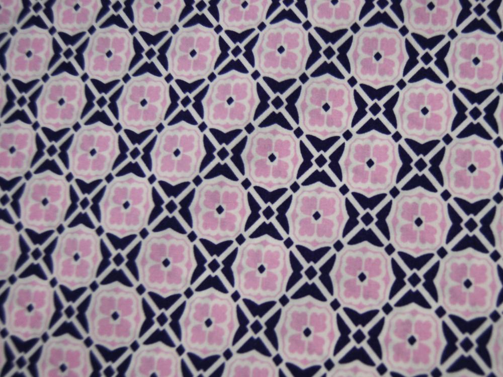 Baumwolle - Blumenmuster in Rosa/Lila 05