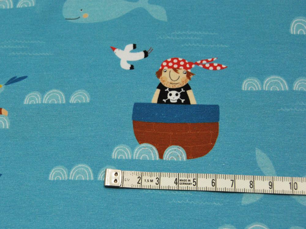 Jersey - Eine Seefahrt...Maritimes Muster - 0,5m - 3