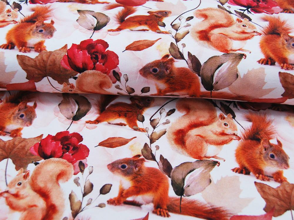 Beschichtete Baumwolle - Blumenmuster in Blautöne - 50 x 75 cm - 3