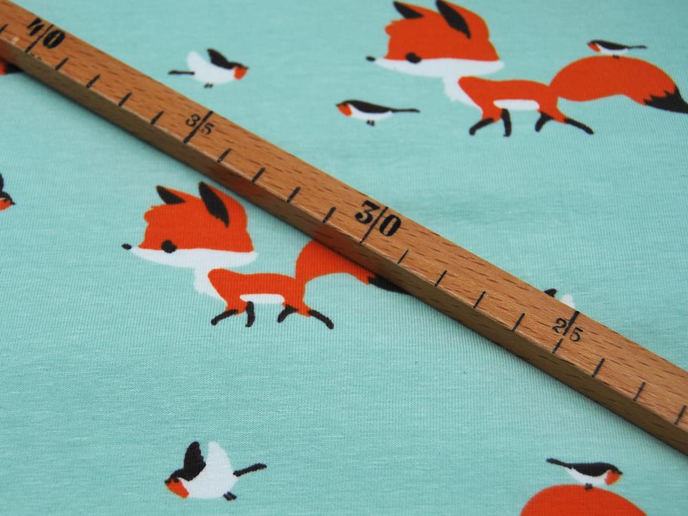 Jersey Fuchs und Vogel auf Mint