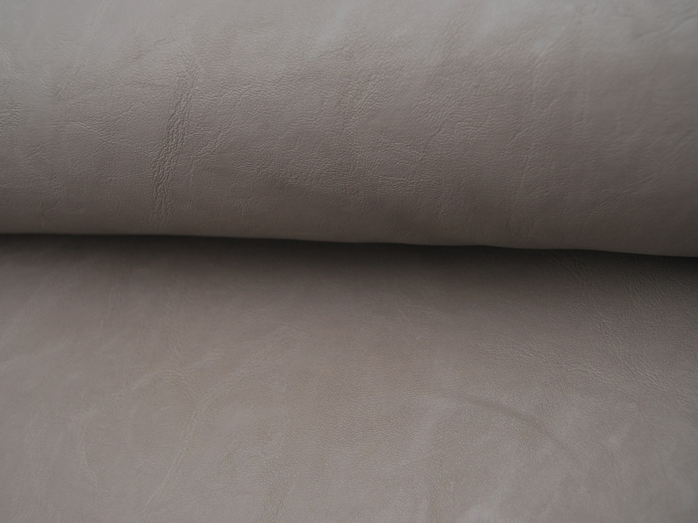 Weiches Kunstleder in Beige mit Struktur