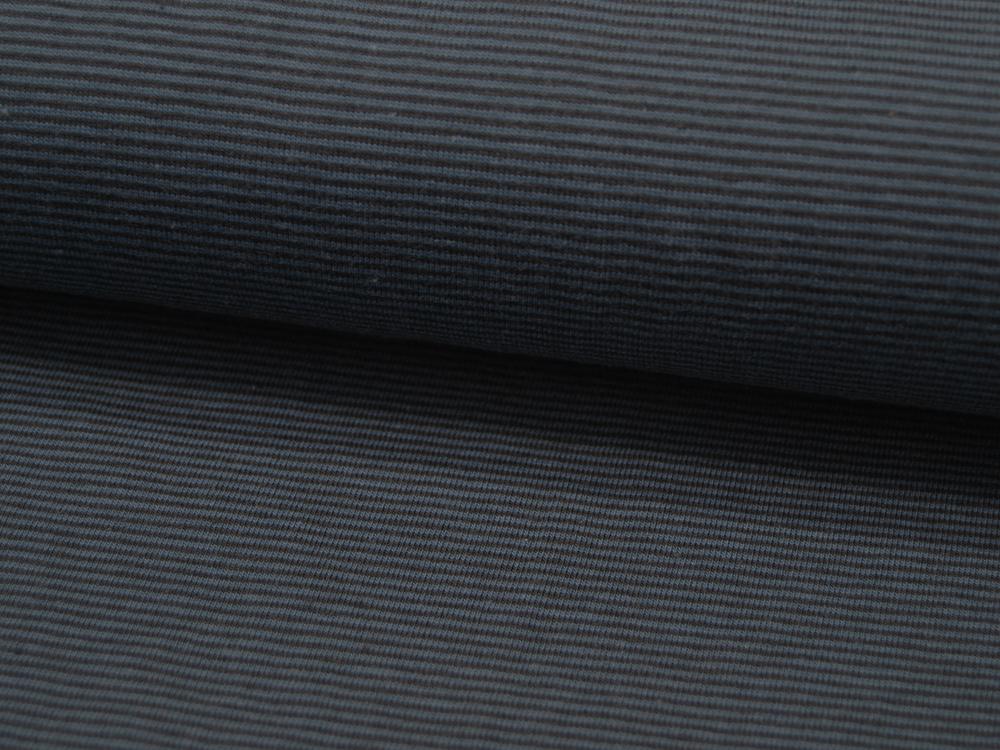 Jersey YD Stripe Petrol-Schwarz gestreift Meter