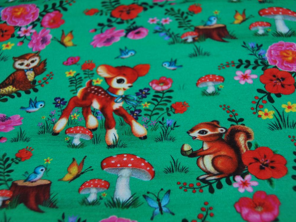 Jersey GOTS DIGITAL Bambi and Friends