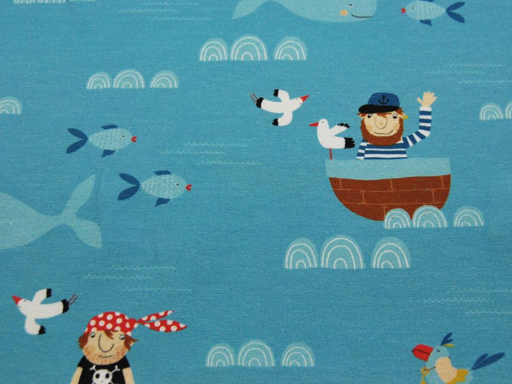Jersey - Eine Seefahrt...Maritimes Muster - 0,5m - 4