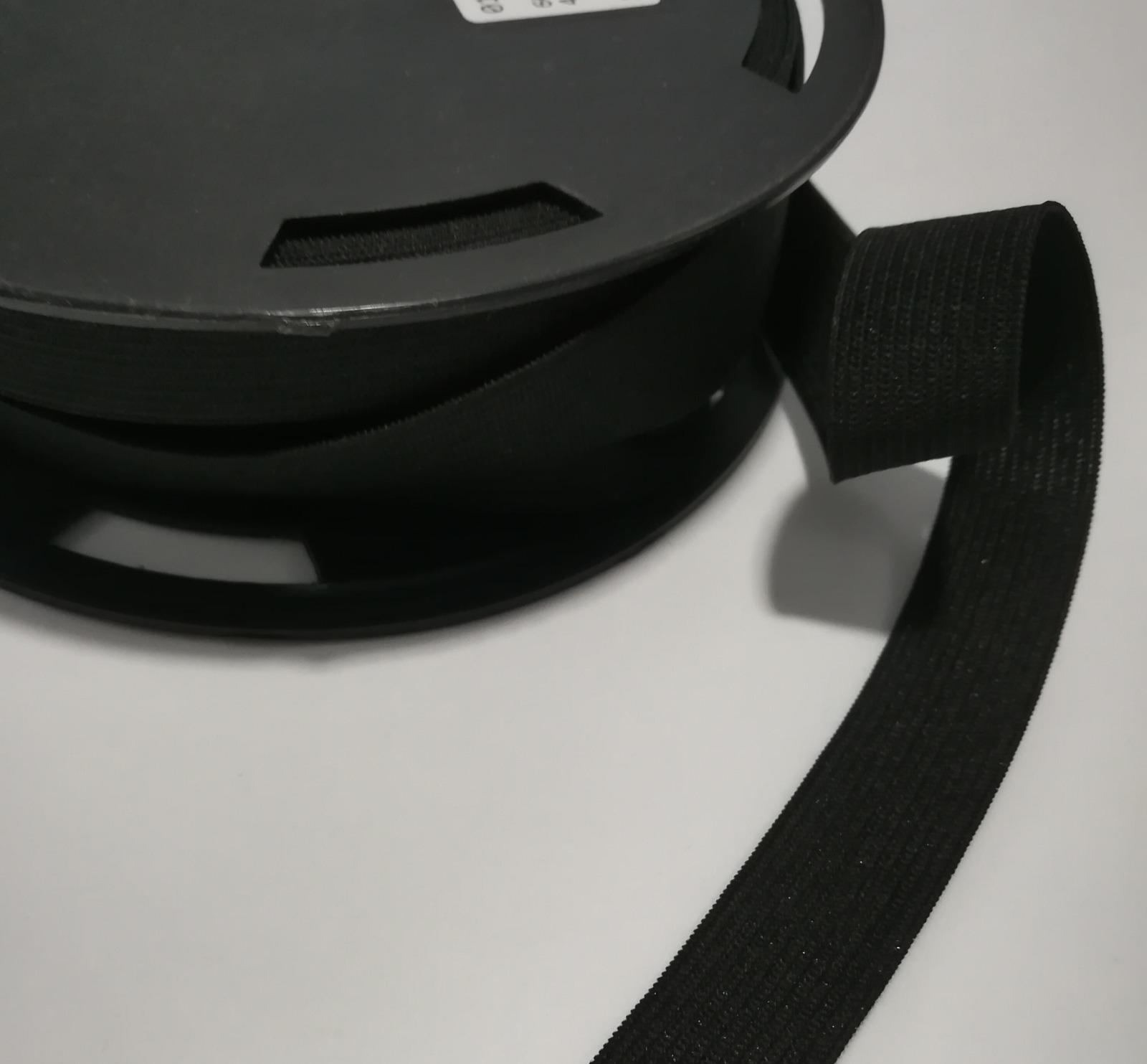 Flachgummi 2cm breit schwarz