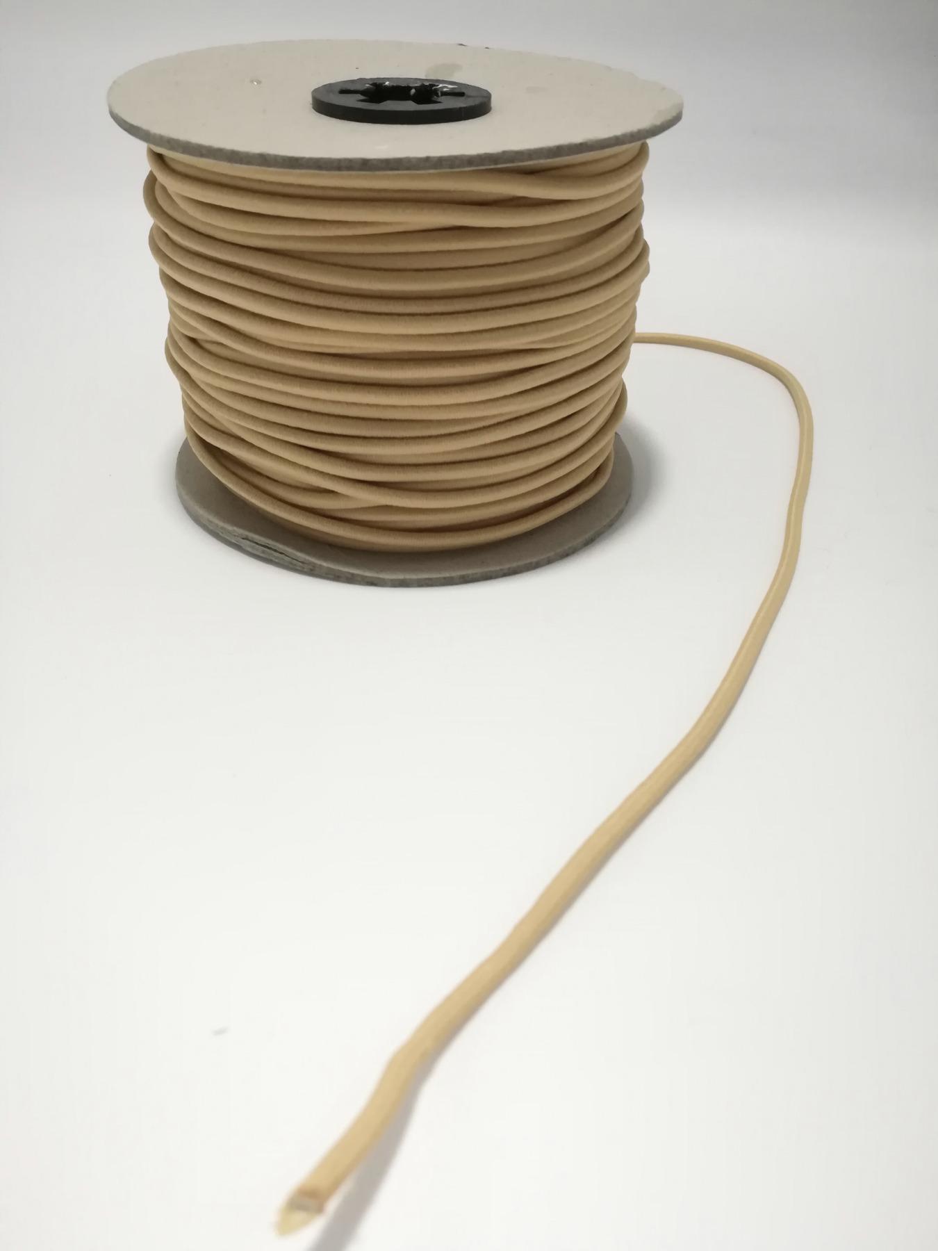 Rundgummi aus Kunstseide 1 Meter -
