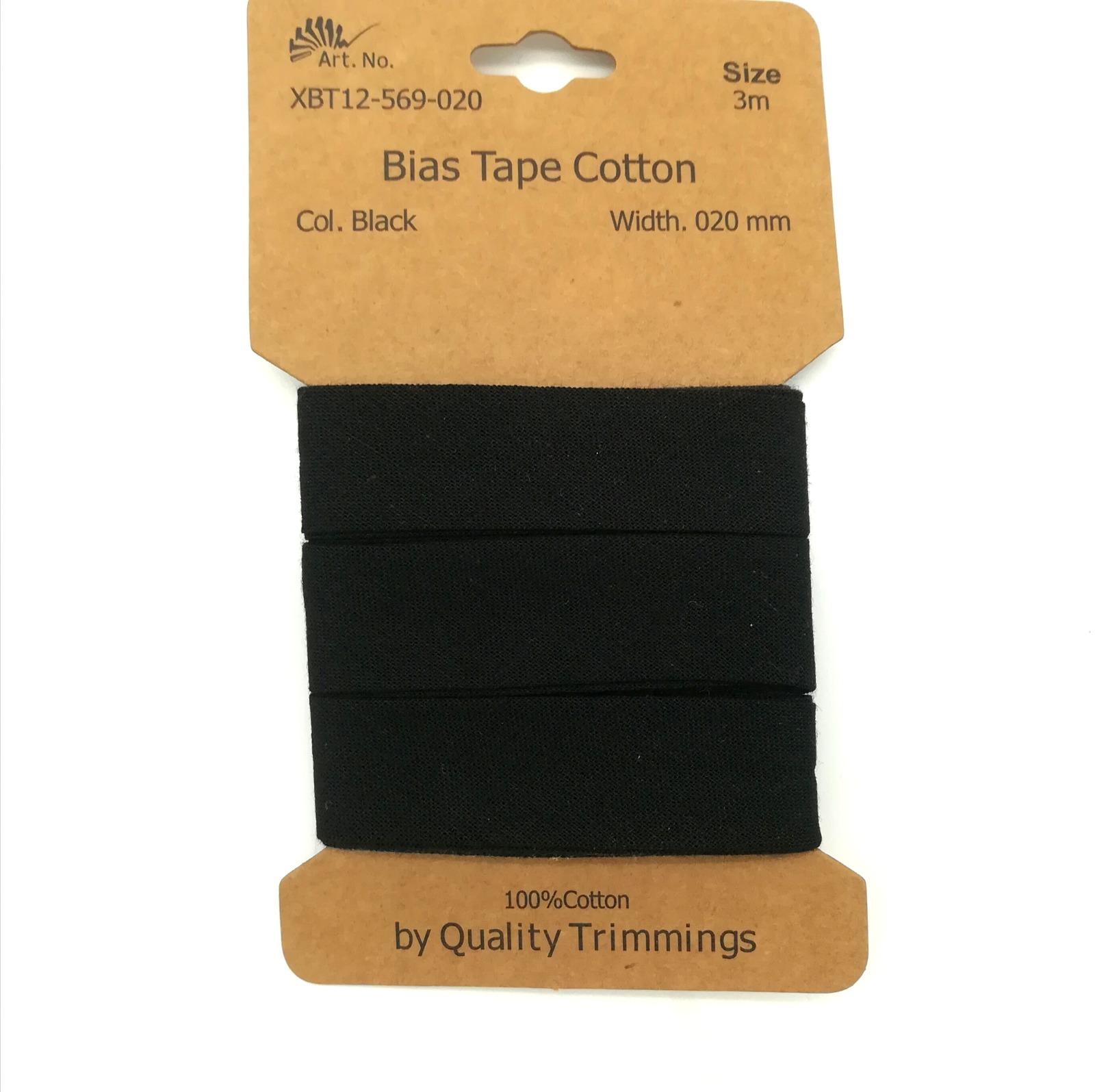 3m Schrägband in Schwarz