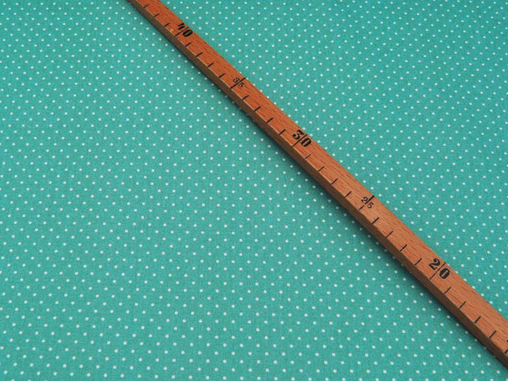 Petit Dots auf Salbei - Baumwolle