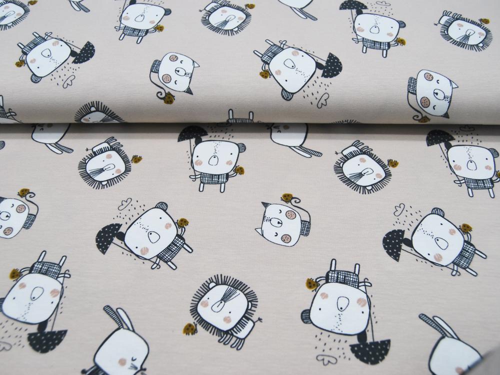Beschichtete Baumwolle - Graphisches Muster in Senf 50 x75 cm - 2