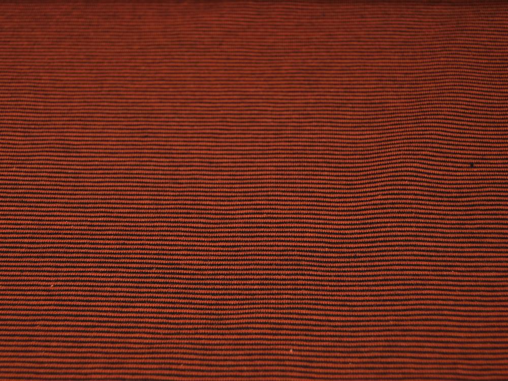 Jersey YD Stripe Terracotta-Schwarz gestreift Meter