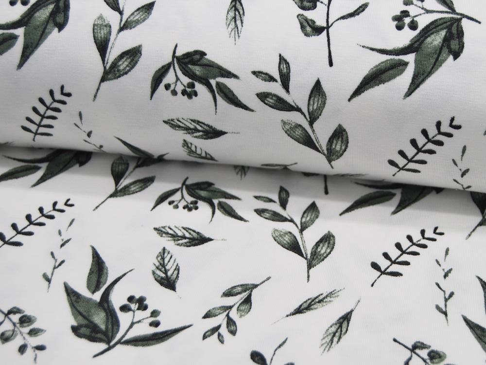BIO Jersey Organic -Leaves Blätter auf