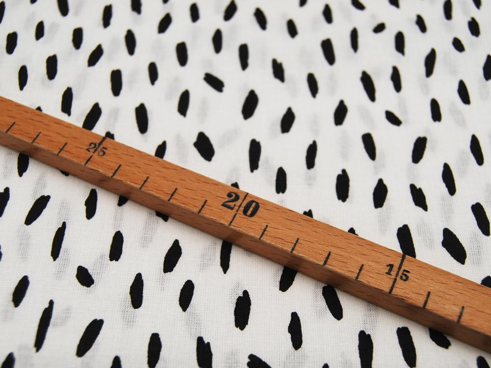 Baumwolle Stripes Kleine Streifen Schwarz auf