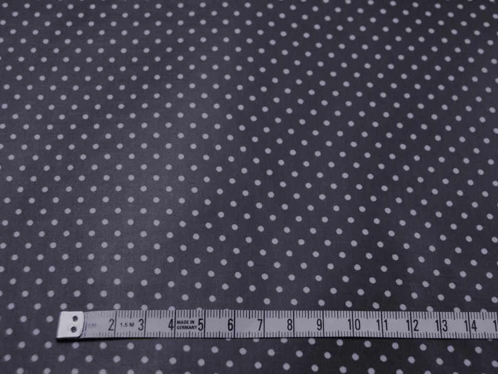 Beschichtete Baumwolle Punkte auf Nachtblau 50x69cm