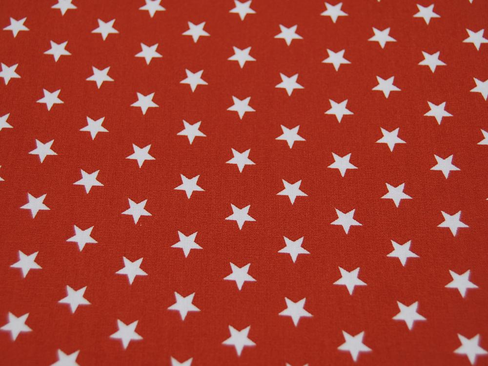 Petit Stars Sterne auf Terracotta Baumwolle