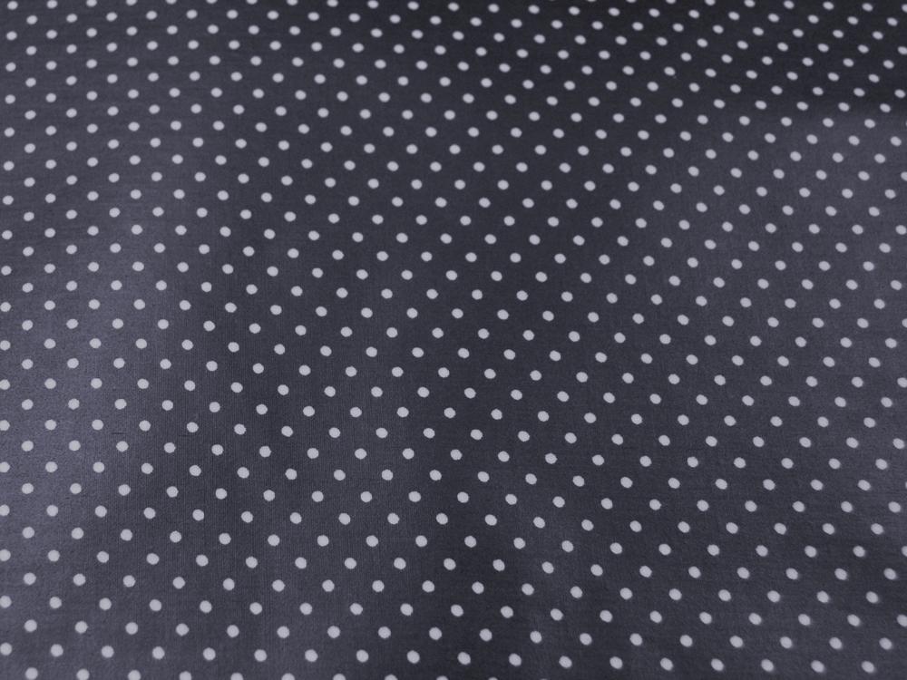 Beschichtete Baumwolle Punkte auf Nachtblau 50x69cm - 1