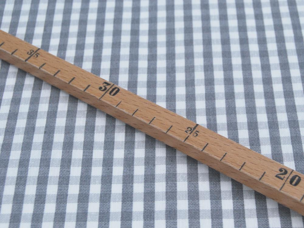 Beschichtete Baumwolle Karo Grau-Weiß 50x78 cm