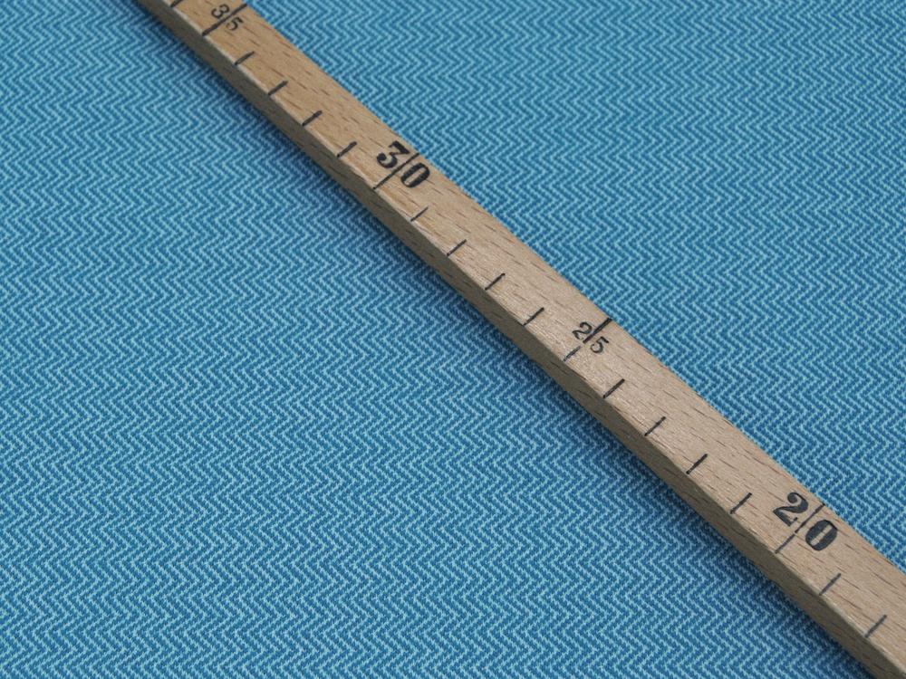 Musselin/Double Gauze - Anker - Weiß auf helles Jeansblau 0,5 m
