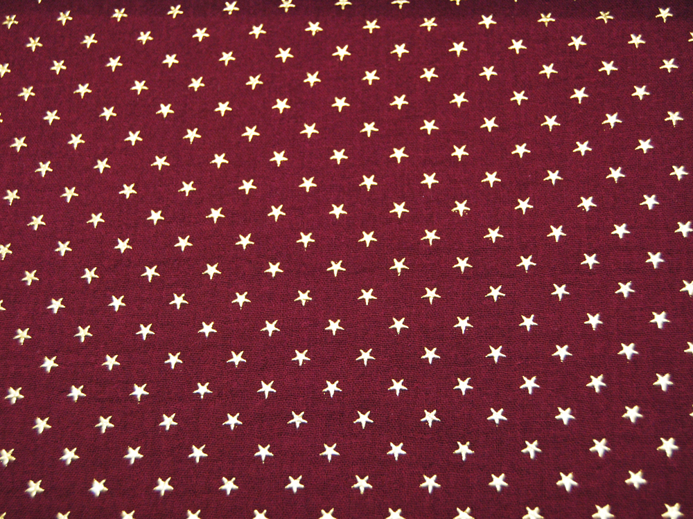 REST Musselin/Double Gauze Gold Star Bordeaux
