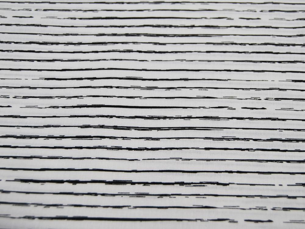 Blau-Weiß gestreifte Baumwolle 0,5 meter - 1