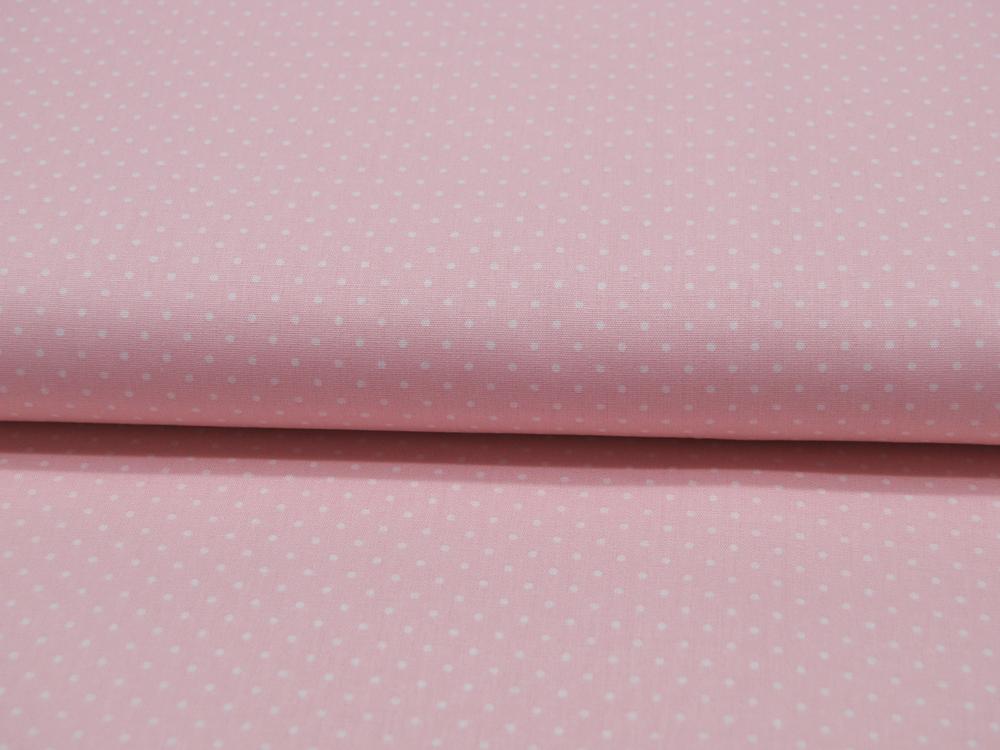 Petit Dots auf Hell Rosa Baumwolle
