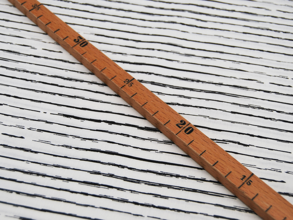 Baumwolle - Schwarze Streifen auf Weiß