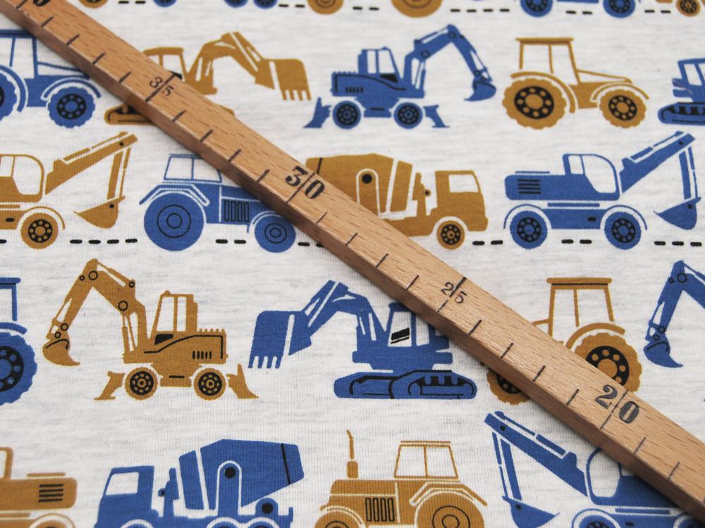 Jersey Vehicles Baufahrzeuge auf Creme Meliert
