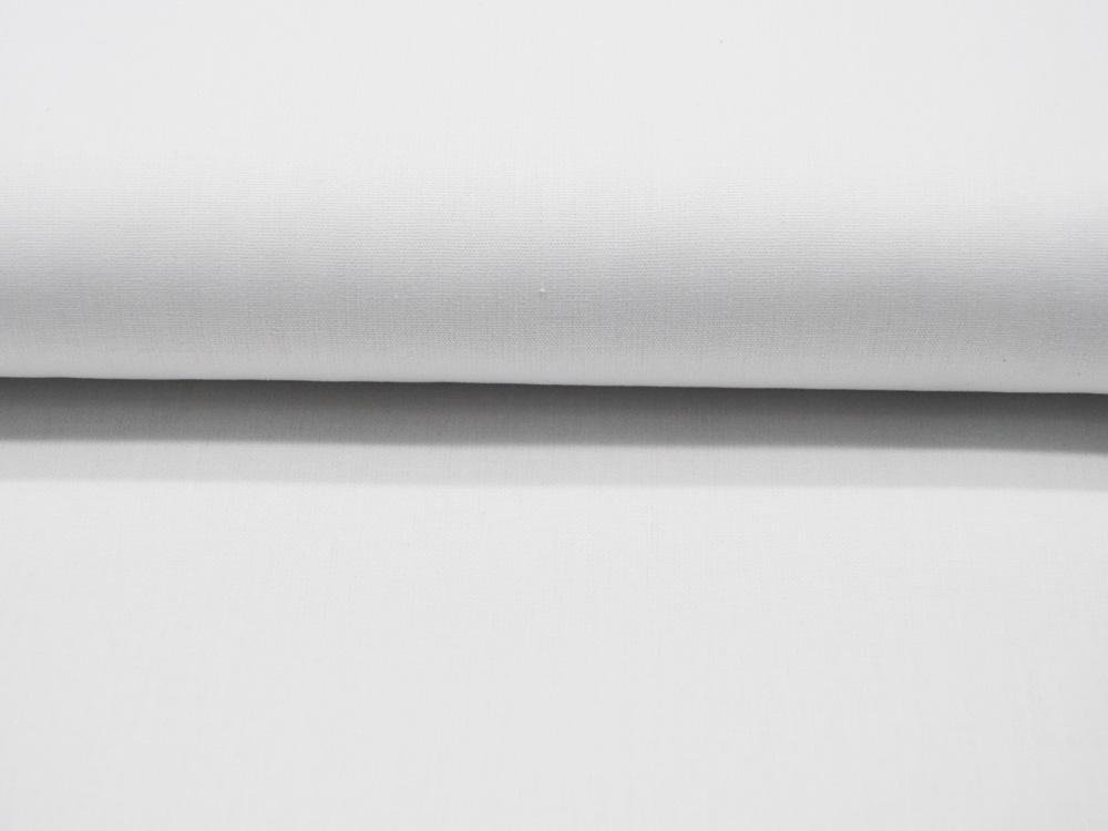 Bio Baumwolle Uni GOTS Weiss Meter