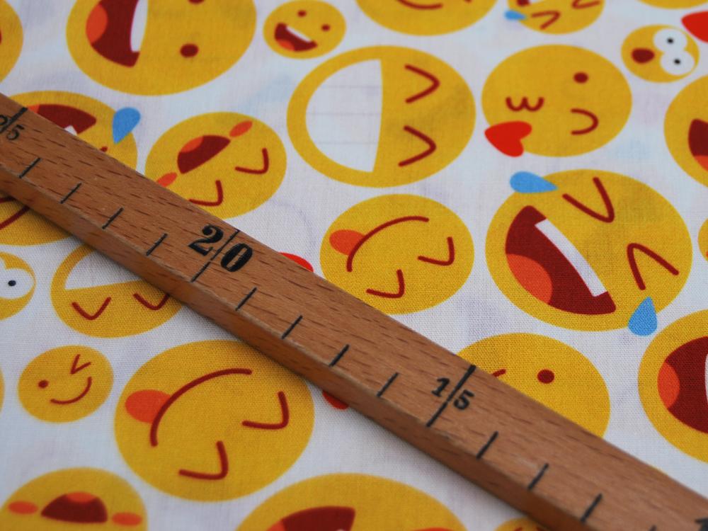 Baumwolle - Kim - Emojis -