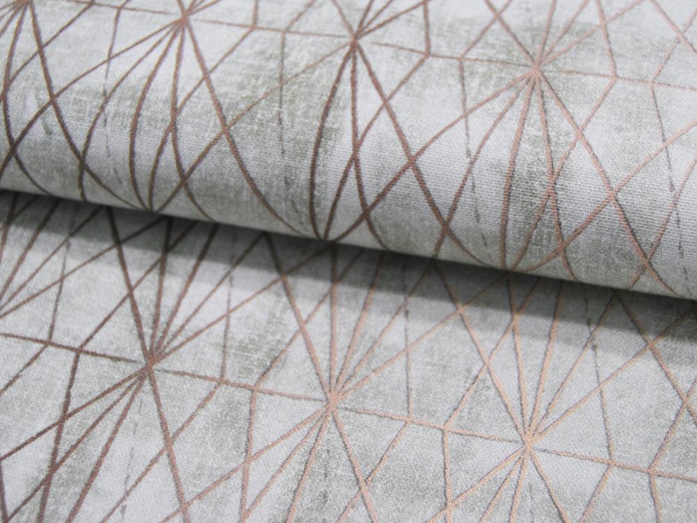 Dekostoff Asanoah Muster goldene Striche auf