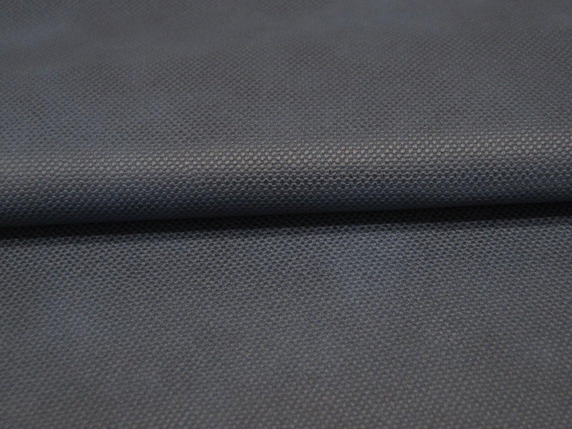 Musselin/Double Gauze - Anker - Weiß auf Nachtblau 0,5 m - 1