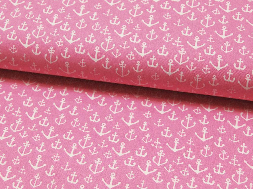 Baumwolle - Ankermix auf Rosa Pink 0,5m - 1