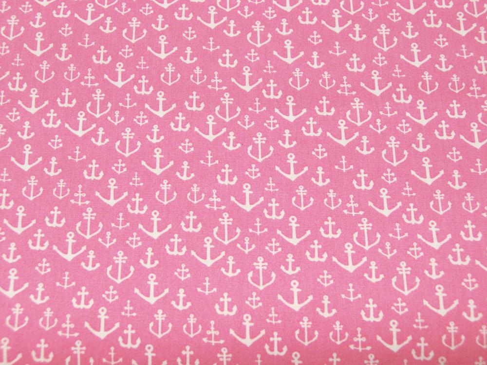 Baumwolle - Ankermix auf Rosa Pink 0,5m - 2