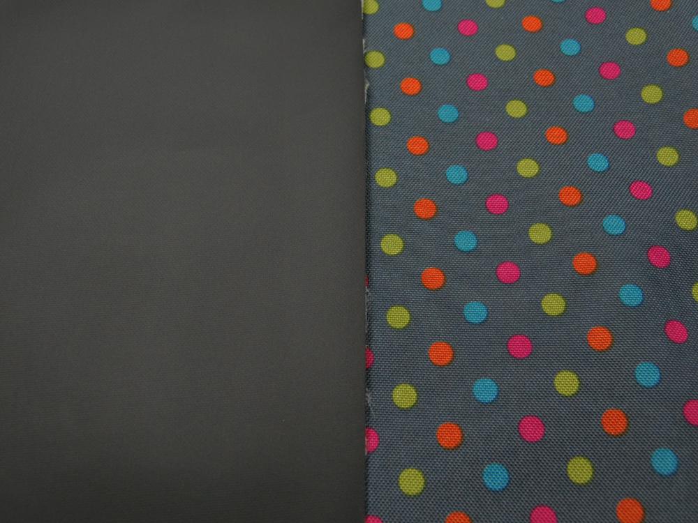Canvas BESCHICHTET - Grau mit bunten Punkten- 50 x 74 cm - 2