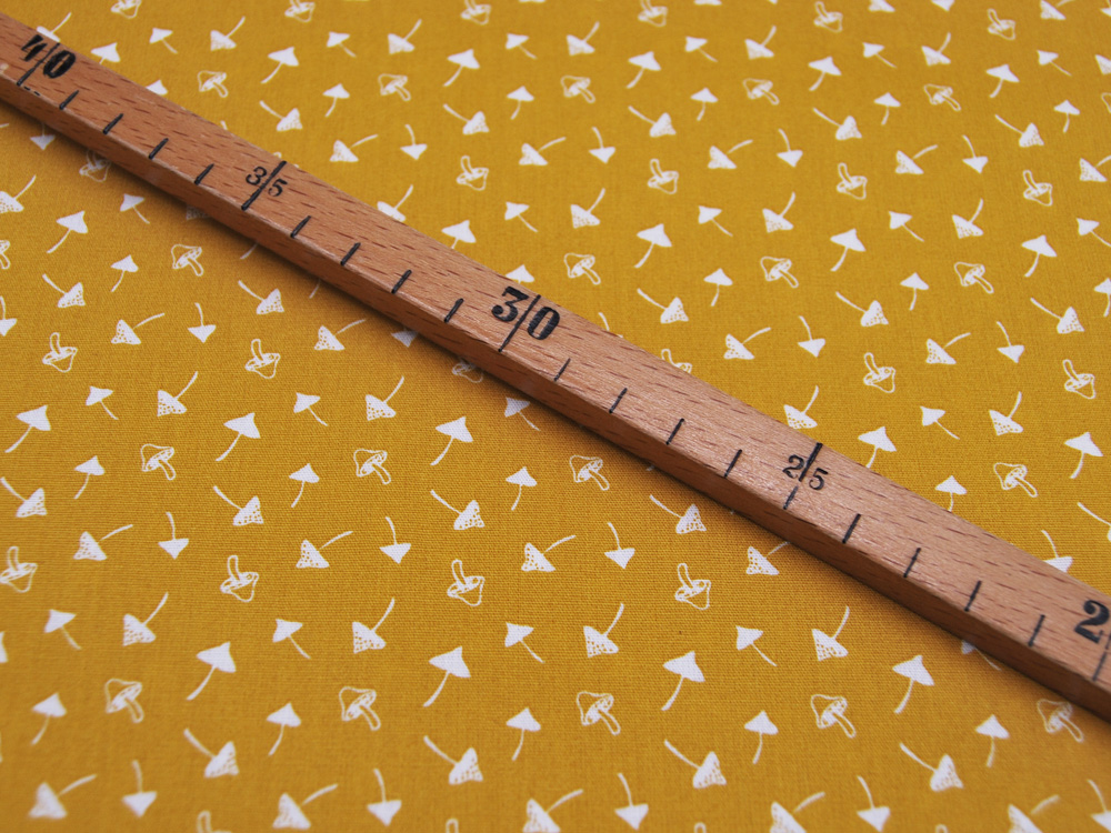 Jersey - Fächermuster in Dunkelblau-Creme - 0,5 Meter
