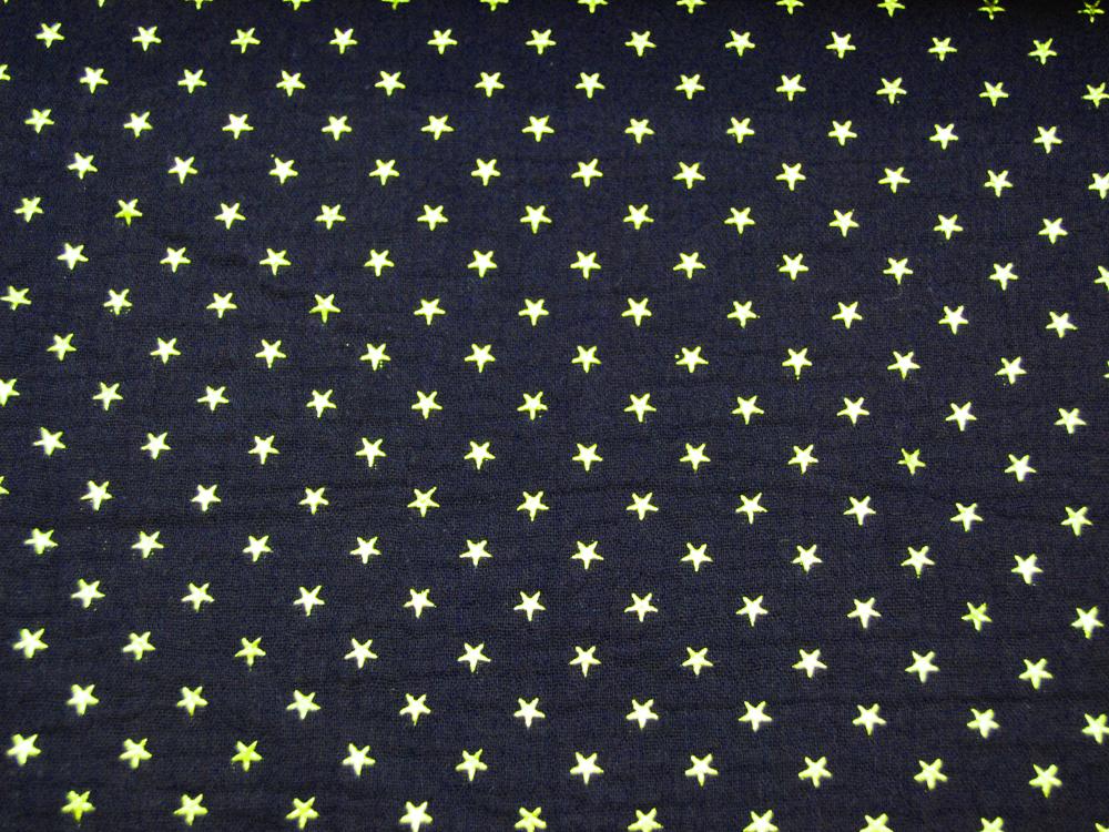 Musselin/Double Gauze - Gold Star -