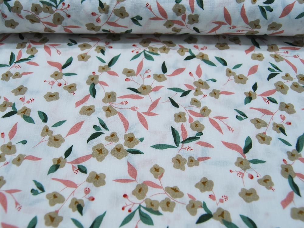 Baumwolle - Flowers - Blumen auf